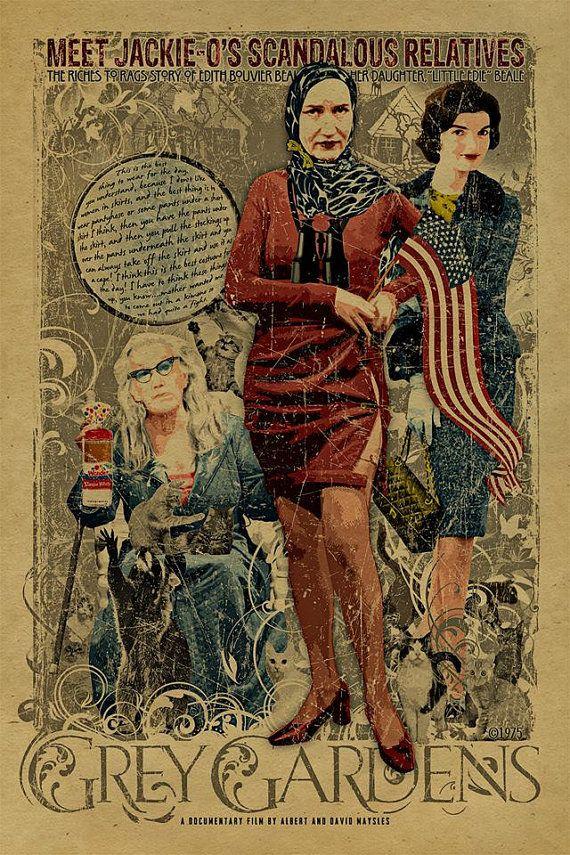 ben bradlee grey gardens | Grey Gardens poster Kraft paper Little Edie. Edith Bouvier Beale ...