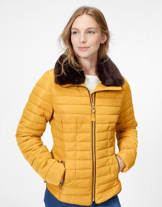 Gosfield Caramel Padded Jacket | Joules US