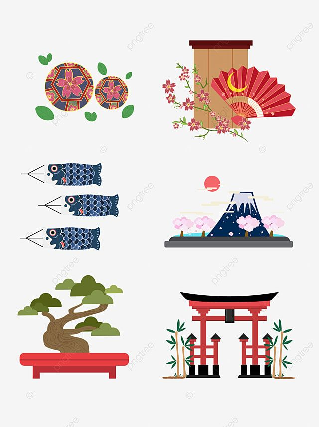 Japan Travel Map Landscape Illustration Japan Png And Vector With Transparent Background For Free Download In 2021 Illustrated Map Japan Icon Sticker Art