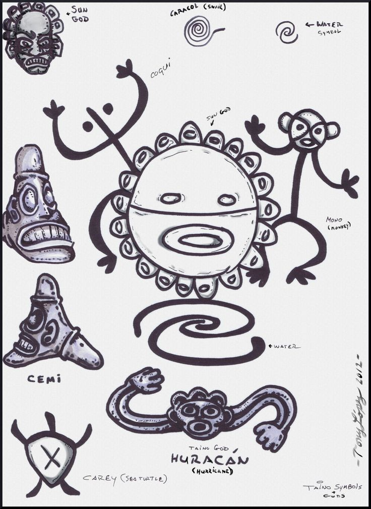 TAINO INDIAN SYMBOLS/GODS by Lpsalsaman.deviantart.com on @deviantART