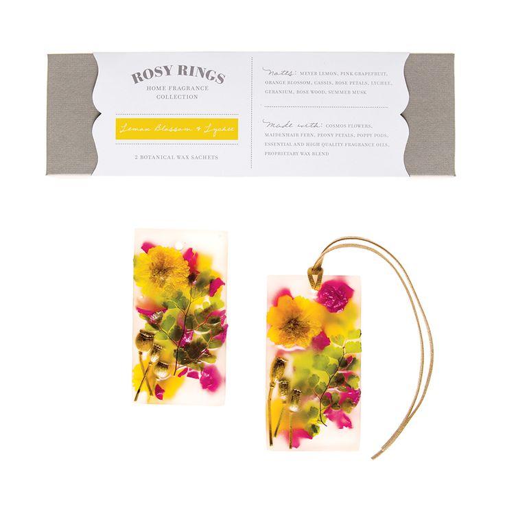 Rosy Rings Lemon Blossom & Lychee Wax Sachets