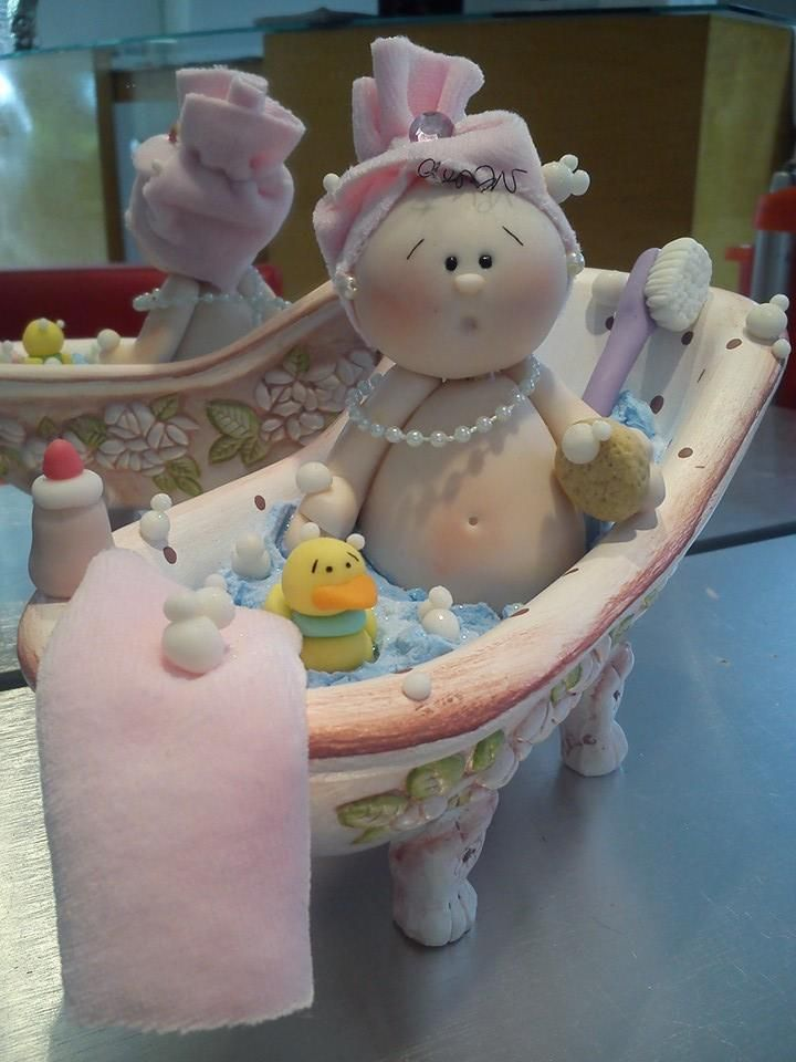baby bathtub polimer clay
