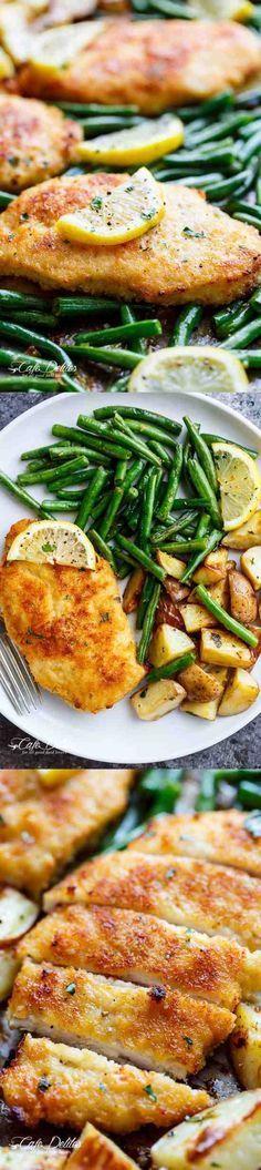 chicken, garlic, green bean, healthy, lemon, potato, recipes