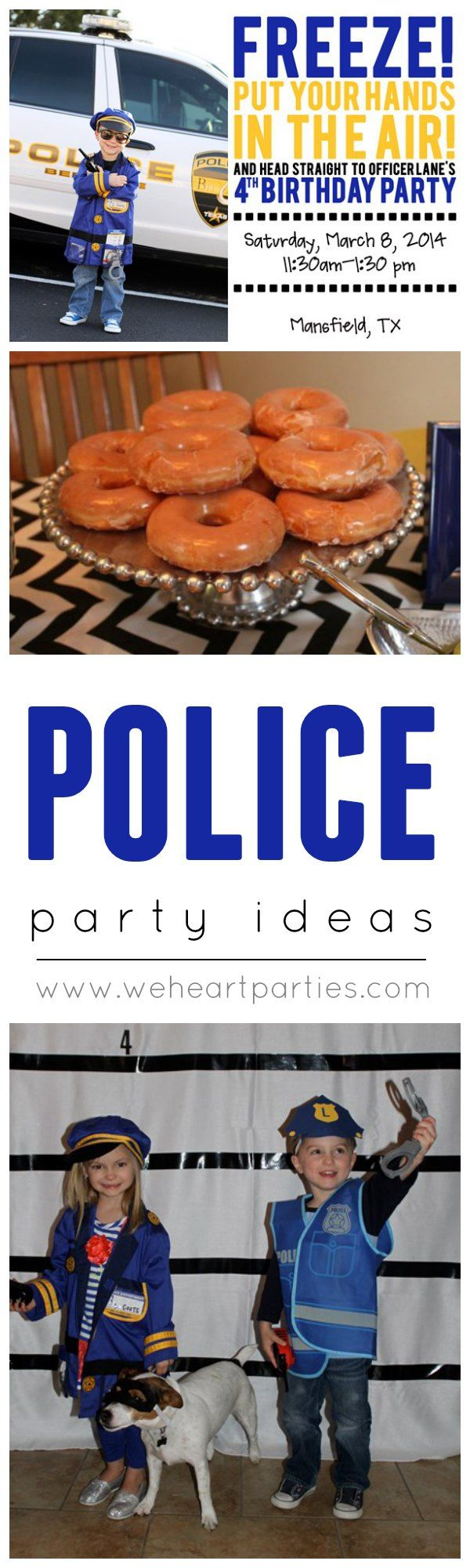 Police Office Birthday Bash - great party ideas for a police car lover!