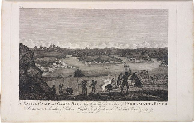 A native camp near Cockle Bay, New South Wales 1813 P Saeger, after John Eyre (engraving) State Library of NS W