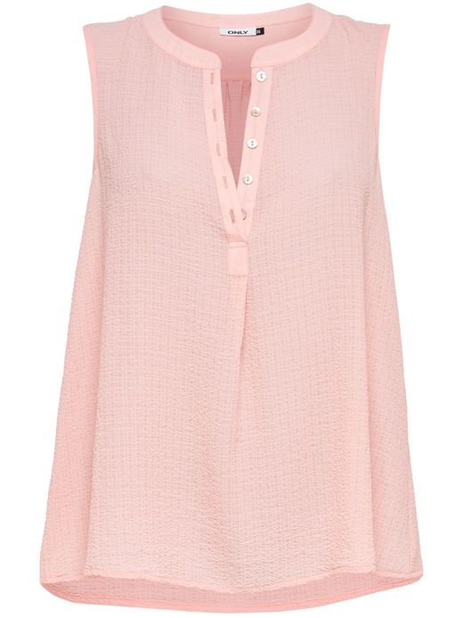 LOOSE SLEEVELESS TOP, Silver Pink