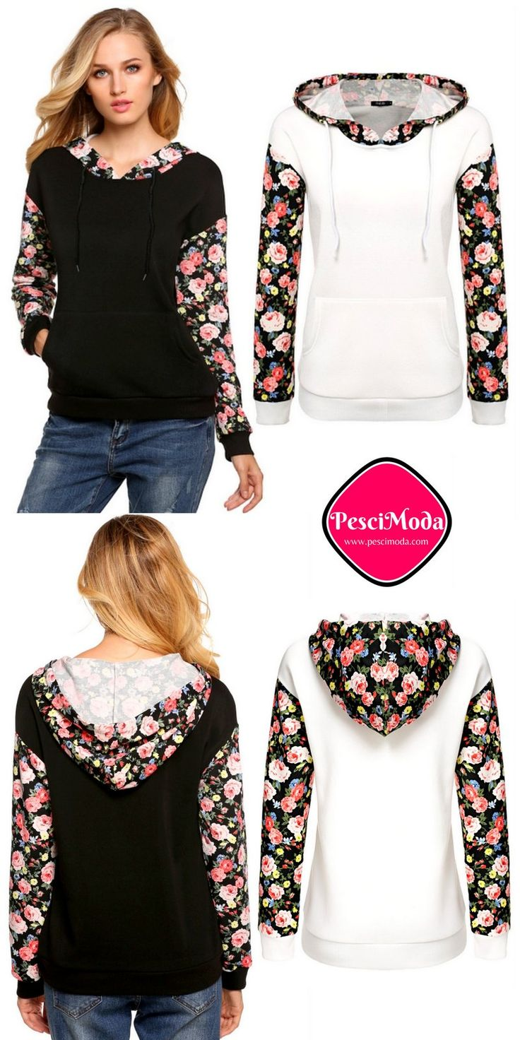Fall Fashion Cute Chic Floral Pullover With Hoodie. Get Additional 10% Off your first order at www.pescimoda.com Shipping all over United States. #Floral #WomansFallFashion #TeensFallFashion #TeensFallOutfits #TeensFallFashionOutfits #FallOutfits #FallFashion2016 #Stylish #Cute #ShortMiniDresses #Boho #Chic #PartyDresses #FullSleeve #Black #FallFashion #FallDresses #FallCollection #BohoStyle #Black #WomansFashion #WomansFallOutfits #WomansFallFashion2016 #DressesOutfitFall #Sweater #White