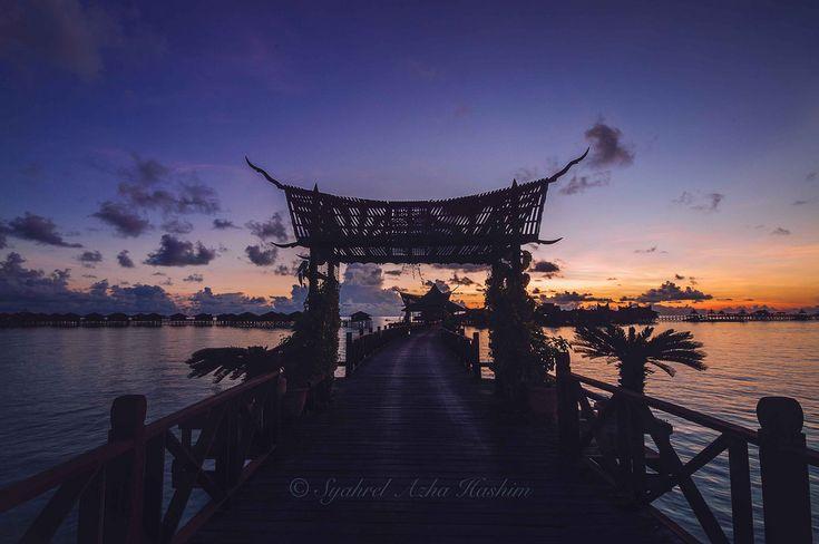 Sunrise at Mabul Island. | by Syahrel Azha Hashim