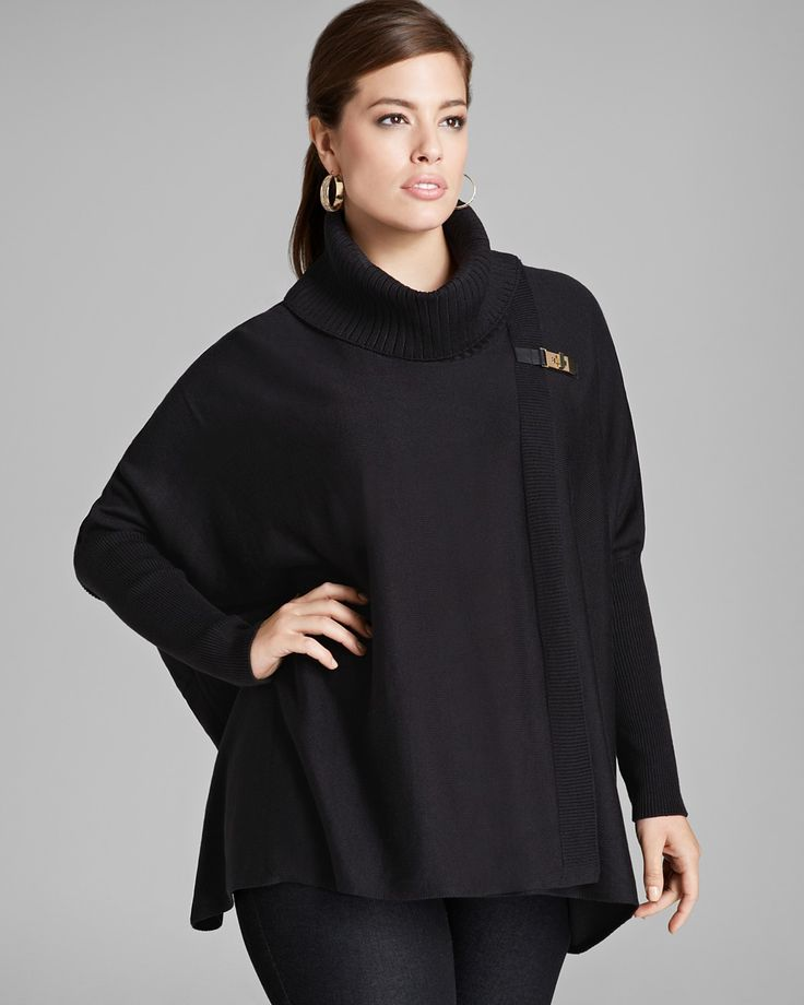 Calvin Klein  #PlusSize Sweater Cape | Bloomingdale's