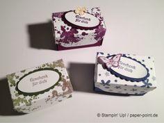 Schachtel mit Deckel mit Anleitung