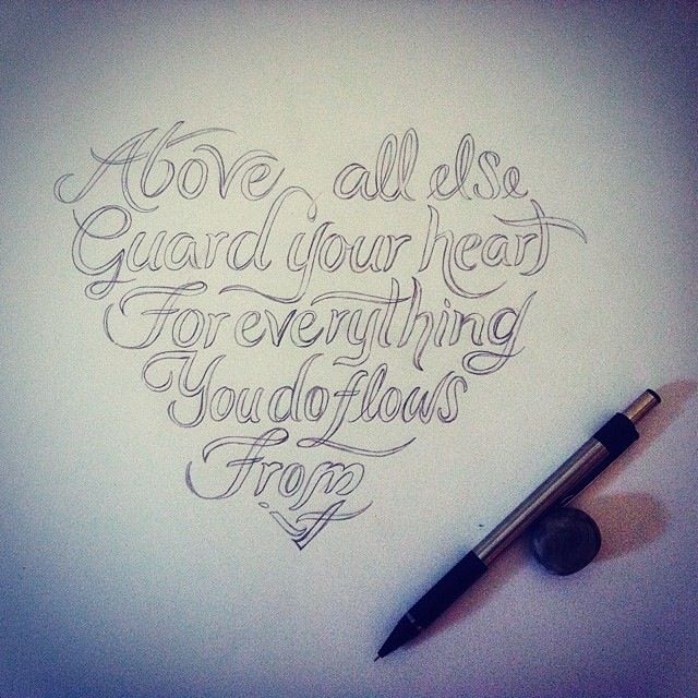 Heart-Quote Tattoo Commission. #tattoo #design #drawing