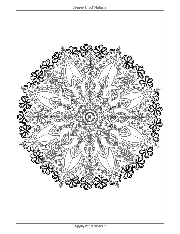 amazoncom coloring books for grown ups flowers mandala coloring book - Intricate Mandalas Coloring Pages