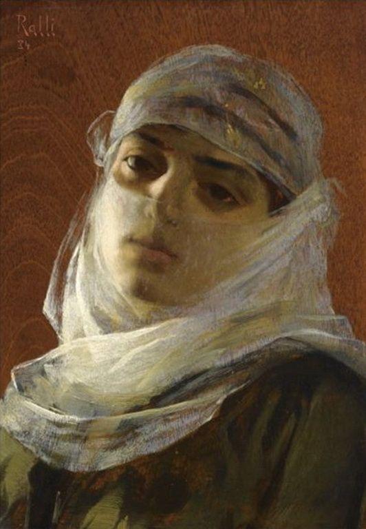 Theodoros Ralli (1852-1909). Greek painter, school of French Academy. Orientalist .- Hanum