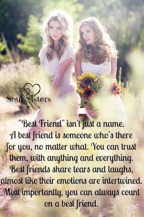 So true but I have had friends that I have left because they were not there for me