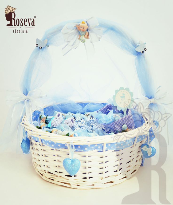 Roseva Chocolate Bebek Sepetleri, çikolata , chocolate , mavi , blue, sepet, baby, franchise, franchising, süsleme