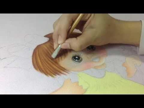 Pintando cabelo de bebê em fraldas, aulas de pintura em tecido - YouTube