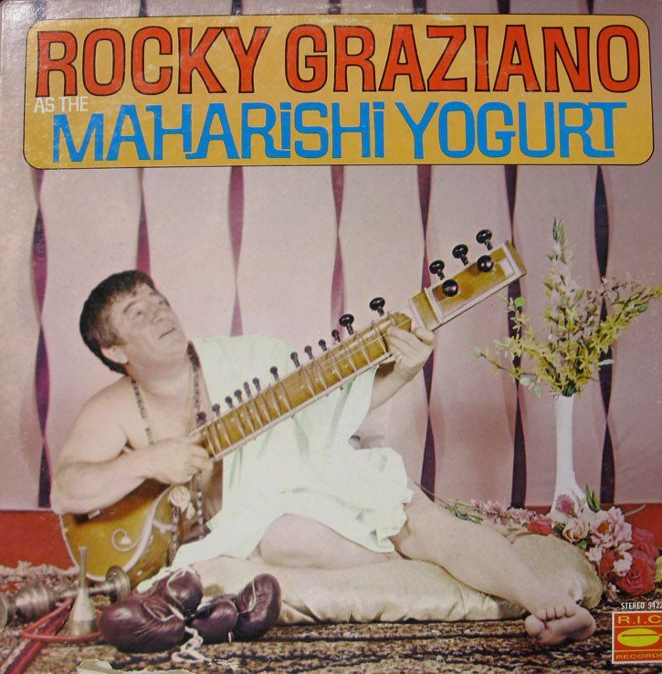 Rocky Graziano is Maharishi Yogurt - Boxing gloves.  Well played, mr. Yogurt.