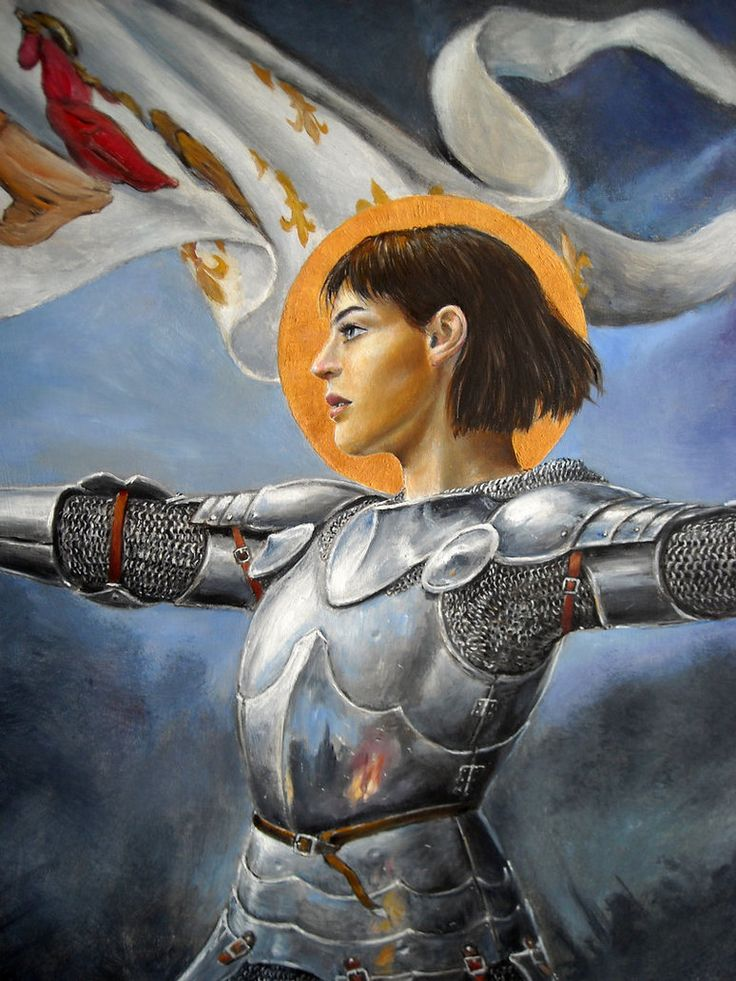 St Joan of Arc | www.saintnook.com/saints/joanofarc | Joan of Arc detail by dashinvaine