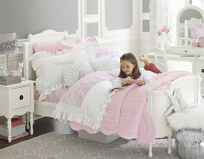 i love the pottery barn kids ruffle collection on 15505 | a1038454ac9fa86eabfc646b1d4c2783 pottery barn kids pottery barn girls bedroom
