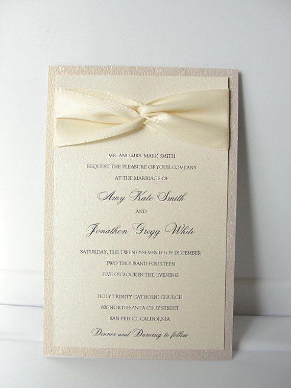 Lace Wedding Invite Invitation Vintage GIA In
