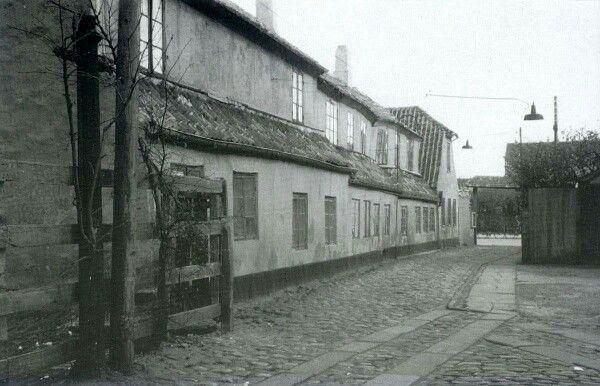 Bagsiden af Minorkagade 1960. Lokalhistorisk Arkiv
