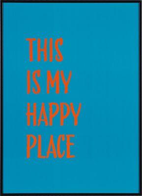 Grafika This is my happy place turkusowa - Obrazy i rzeźby - Artykuły Dekoracyjne - Meble VOX