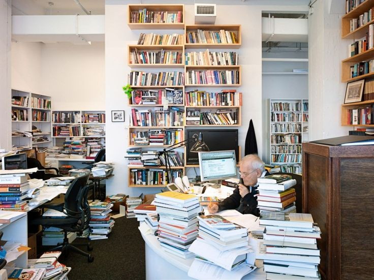 Its almost like the Bat-cave except with books! Robert Silvers, editor of The New York Review of Books