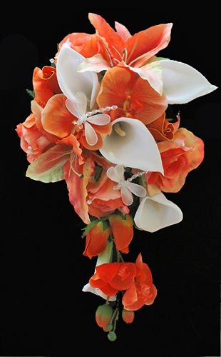 Cascade Bridal Bouquet Instructions : Best images about orchid and lily arrangements on