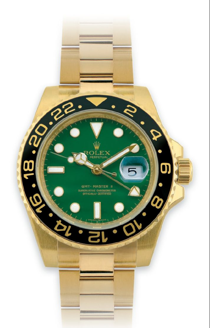 In 2005, the GMT-MASTER celebrated its first 50 years and for the occasion it was proposed by Rolex in a new version in gold with two different types of dial  http://www.mondanionline.com/rolex_gmt_master-18.php