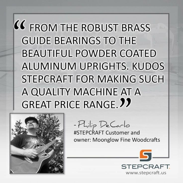From The Robust Brass Guide Bearings To The Beautiful Powder Coated  Aluminum Uprights. Kudos Stepcraft For Making Such A Quality Machine At A  Great Price ...