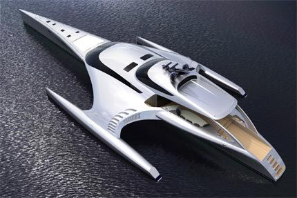 """Adastra: """"One of the world's most amazing super yachts, that could spell the future for efficient long range cruising""""  Boat International"""