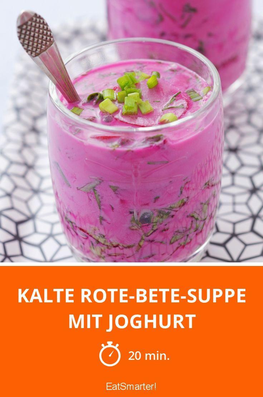 Kalte Rote-Bete-Suppe mit Joghurt - smarter - Zeit: 20 Min.   eatsmarter.de