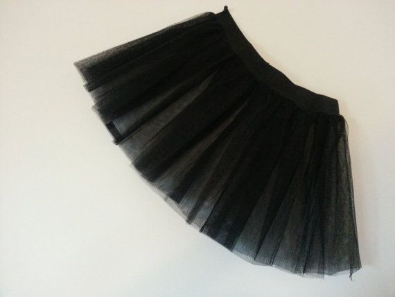 Plus Size Black Tutu Skirt For Dance Party Ruffled by MasterMind92, $15.99