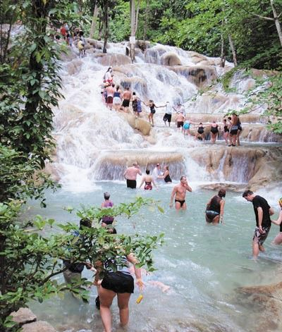 Dunns River Falls, Jamaica -- One of the (if not THE) coolest things I've ever done. Bonus: Pure beauty!!