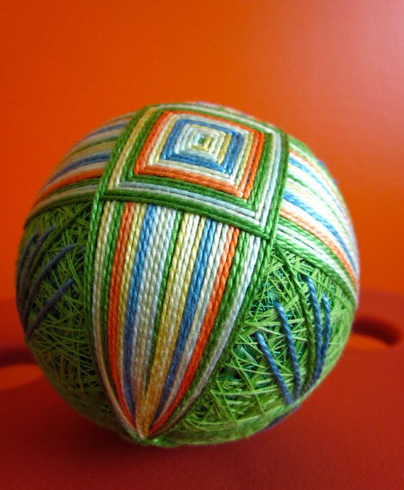 I would love to do this.. hand embroidered thread ball - japanese temari..