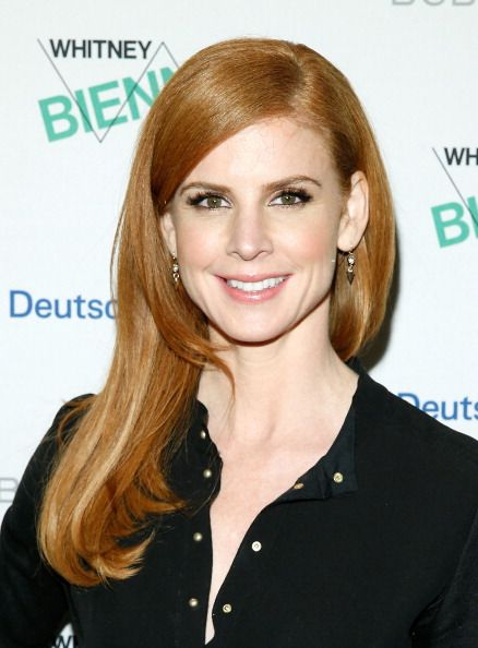 Sarah Rafferty at the 2014 Whitney Biennial Opening Night Party. Makeup by Robert Sesnek.