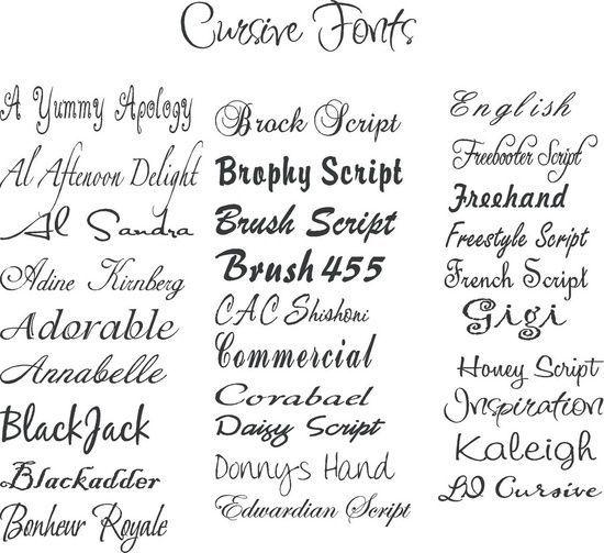 cute tattoos fonts