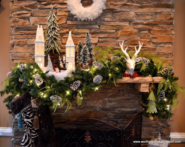 Christmas tree, mantle and decor via Worthing Court blog~Love The A-Symmetry~ Looks Amazing~