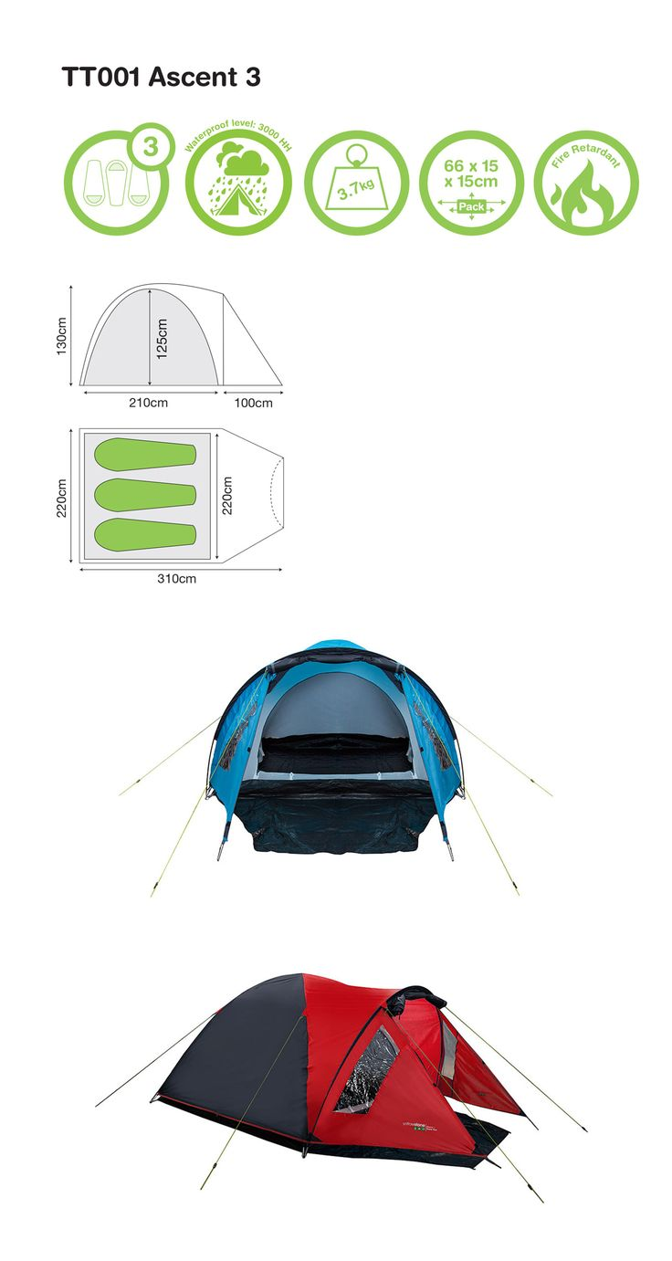 Yellowstone Ascent 3 Tent. Lightweight and easy to pitch.  sc 1 st  Pinterest & 21 best Tents images on Pinterest | Tent Tents and Camping
