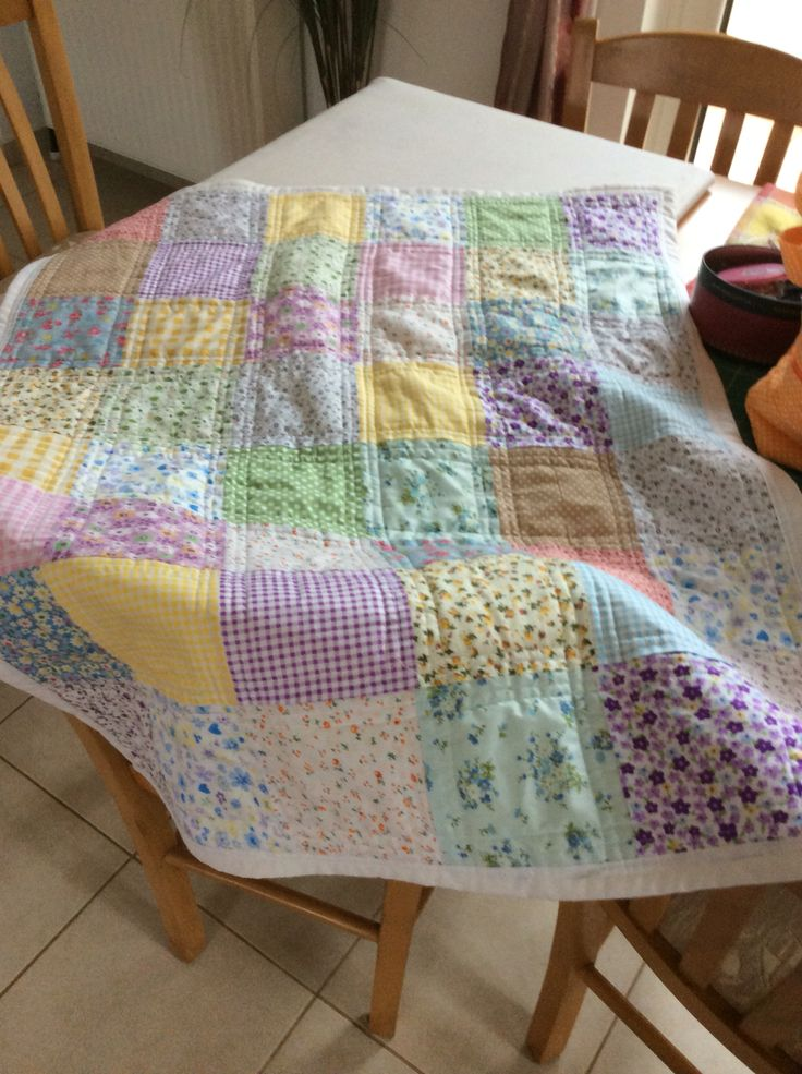 Baby quilt from scraps