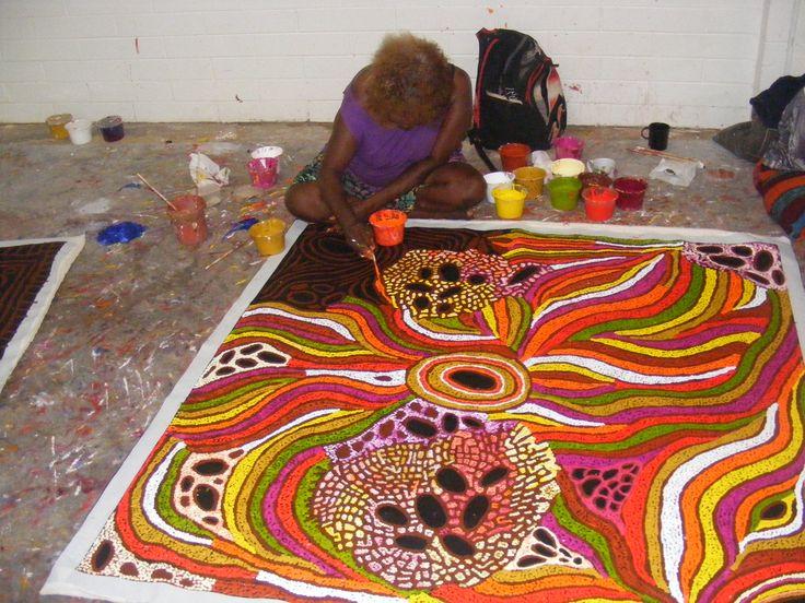 "Australian Aboriginal Art Painting by LYNETTE CORBY NUNGURRAYI ""MY COUNTRY"" 150 x 149 cm. #art #aboriginalart #australianart #aboriginalpainting"