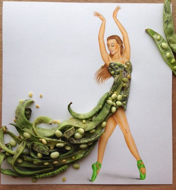 Seorang Fashion Ilustrator Armenia Menciptakan Bermacam Desain Gaun Dari Benda Di Sekitar Yang Hasilnya WOW (Ada 10 Gambar) - BACA Yuk