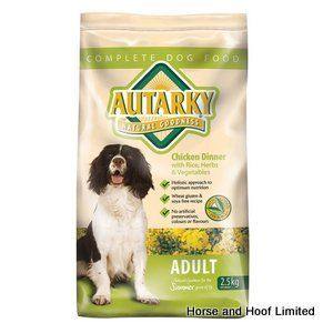 Autarky Chicken Adult Dog Food 2 5kg Autarky with Chicken Adult Dog Food has been formulated with a wide range of wholesome beneficial ingredients that have been specially selected to provide a complete diet.