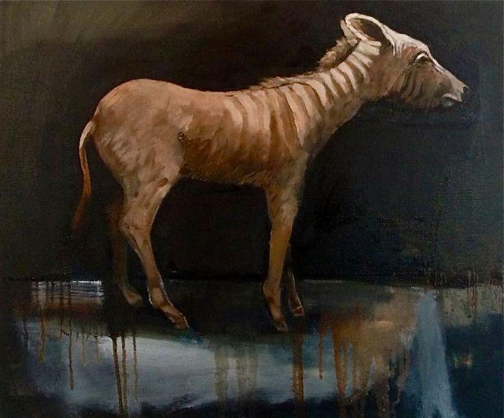 the last quagga oil on canvas 50 x 60 cm from the 'stillness' series www.niebuhr.co.za