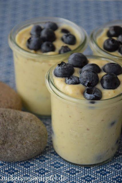 My favorite Swedish dessert, cinnamon cream with blueberries