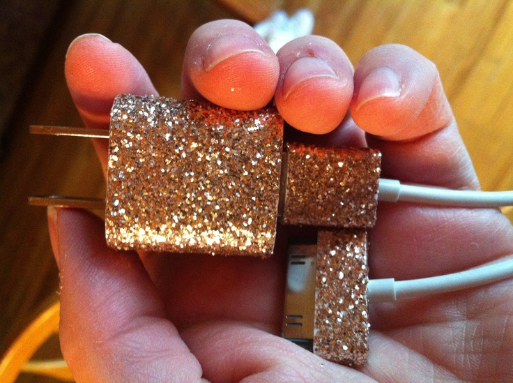 iPhone Charger (customized glitter charger). $13.00, via Etsy.