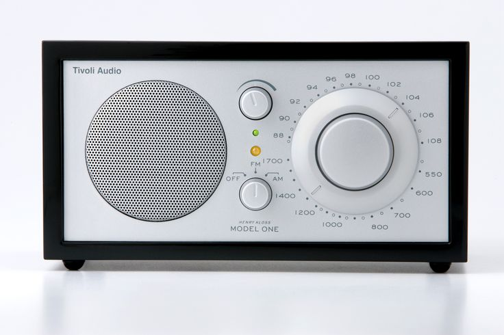 Tivoli Platinum Series Model One Radio: Piano Black/Silver
