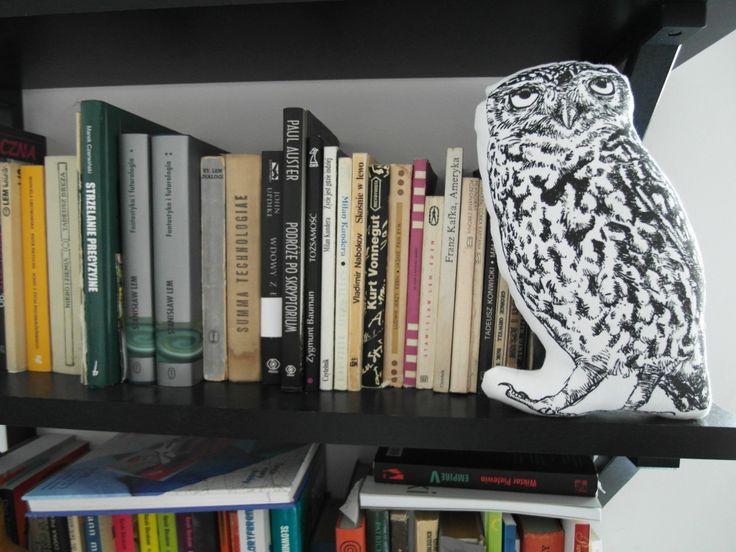 Little owl handmade screenprinted plushie  http://waldziograf.pl/en/dolls-and-plushies/53-little-owl-plushie.html