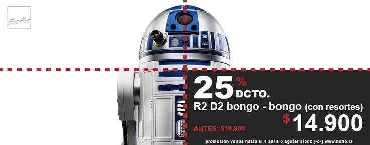 OFERTA JUGUETE STAR WARS 25% dcto juguete bongo-bongo de R2 D2 [con resortes, boing, boing...]
