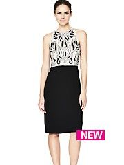 Lovely Definitions Embellished Top Pencil Dress #partyinstyle http://www.very.co.uk/women/dresses/e/b/1655.end